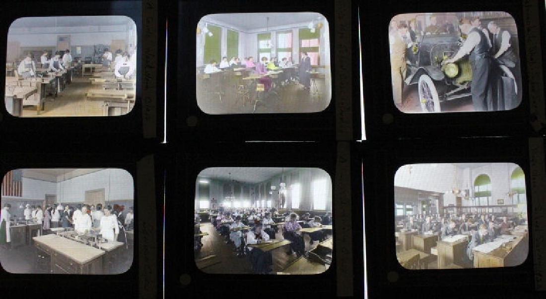 42 Lantern Slides - Reading PA Schools w/ Mengel