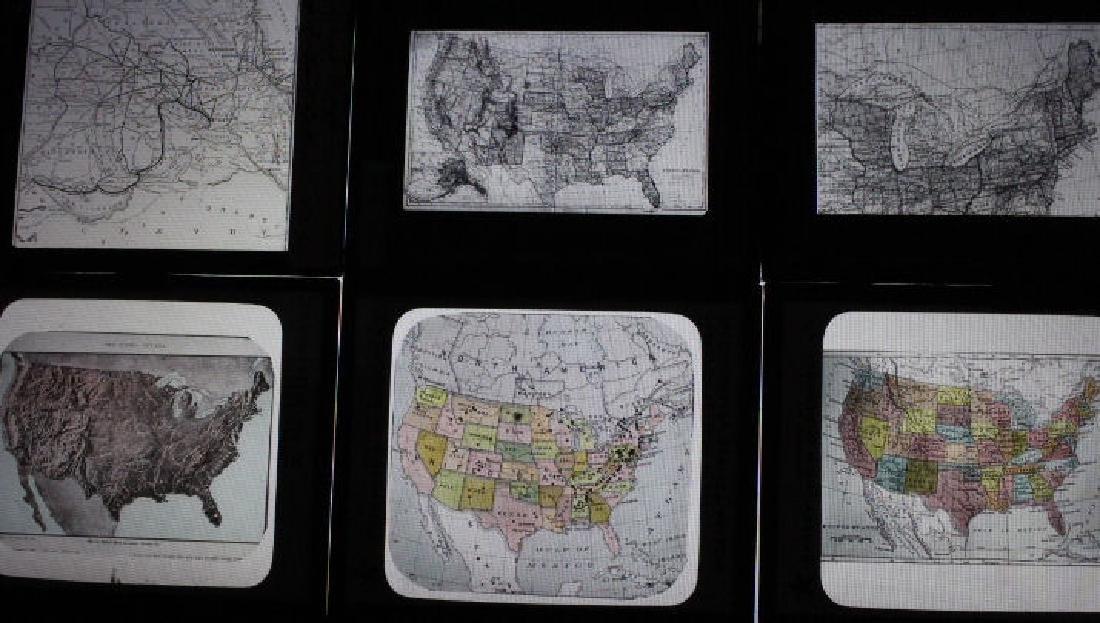 27 Lantern Slides - US Maps
