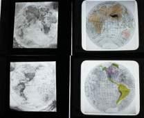 4 Lantern Slides   Maps World