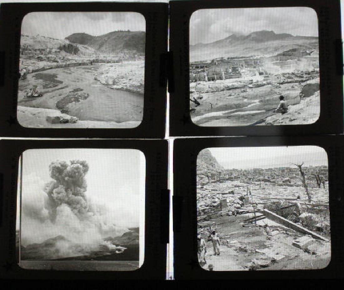 14 Lantern Slides Mont Pelee Eruption 1902 Series