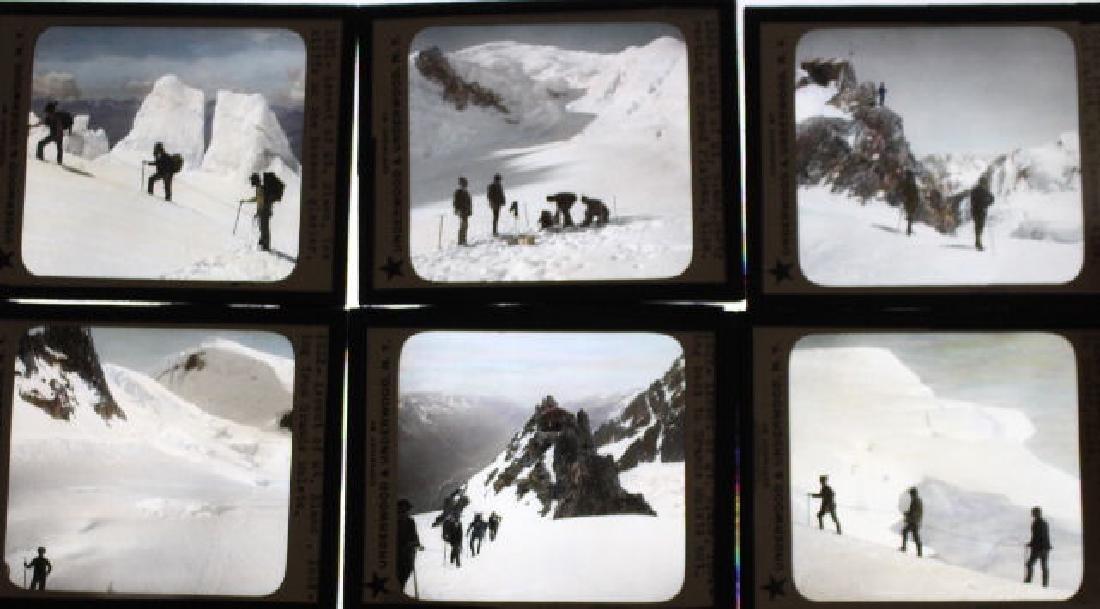 15 Lantern Slides - Mont Blanc / Alps