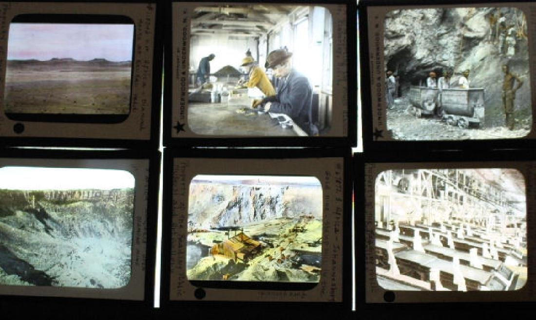 9 Lantern Slides - Gold & Diamond Mining