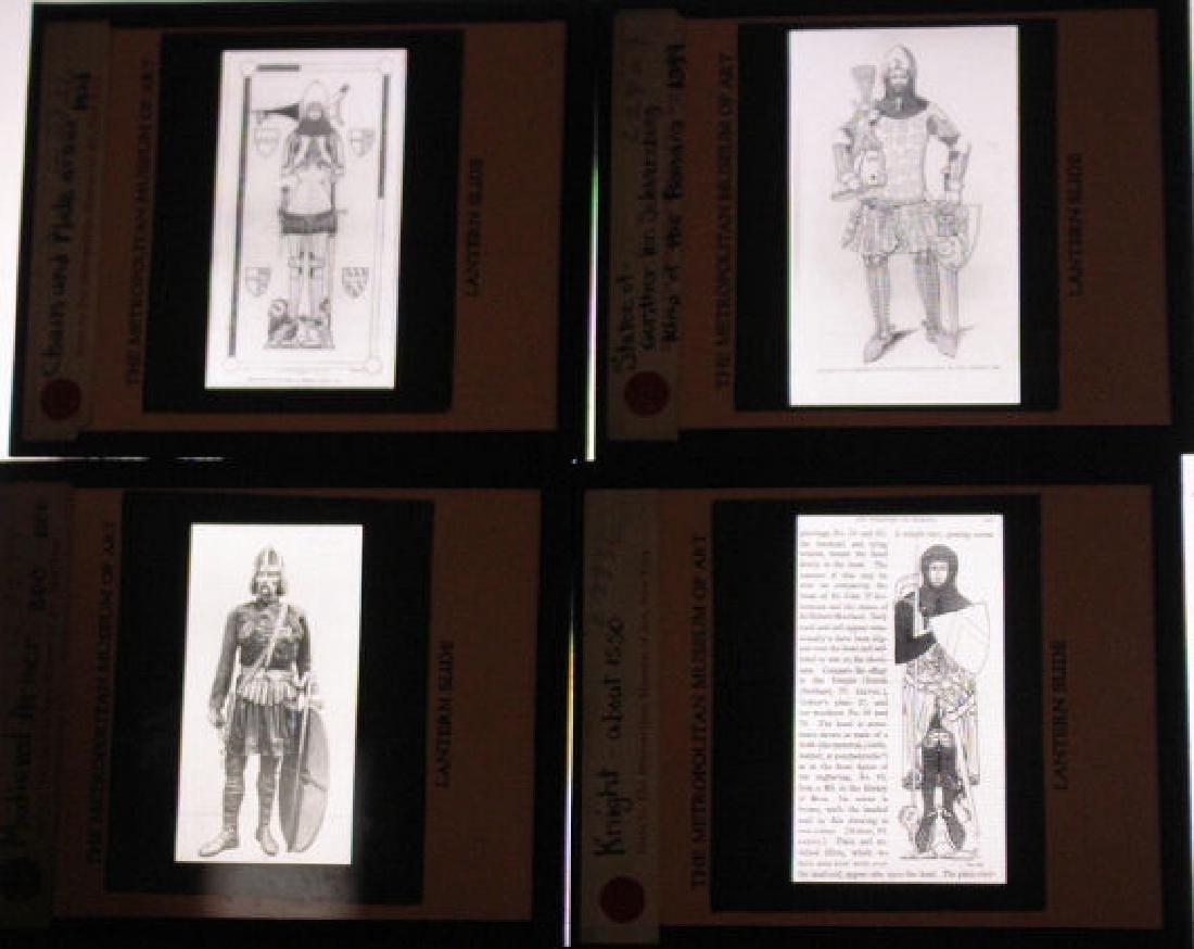 27 Lantern Slides - Armor/Knights