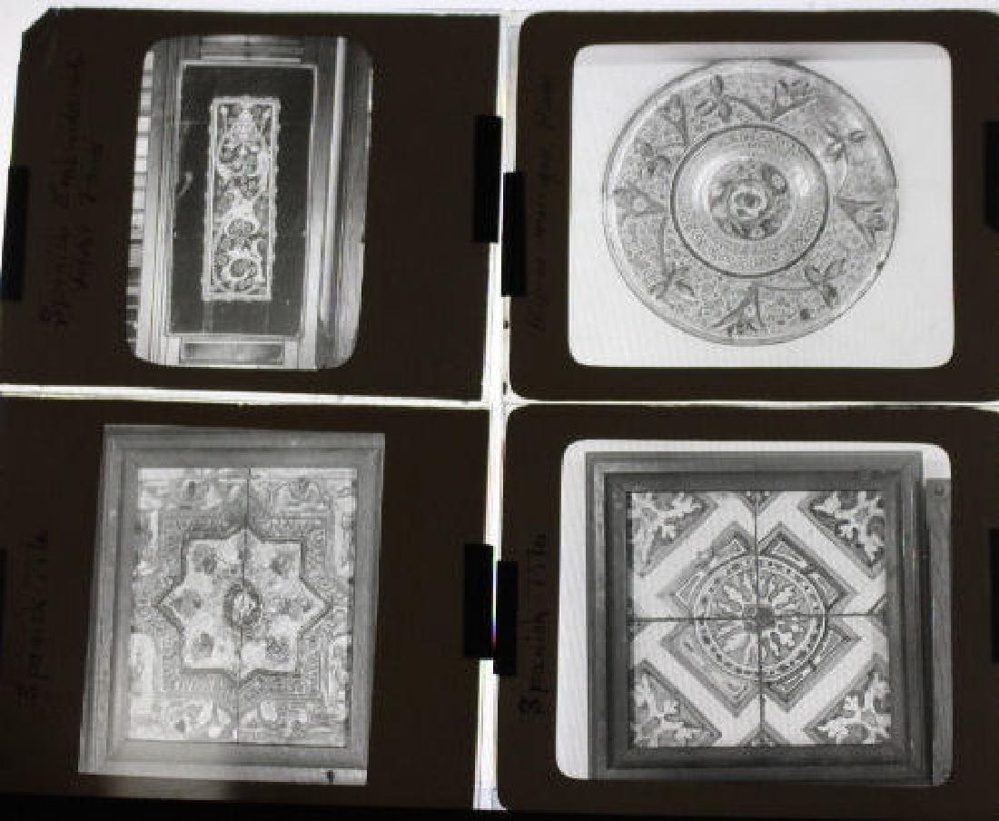 8 Lantern Slides - Spanish tiles