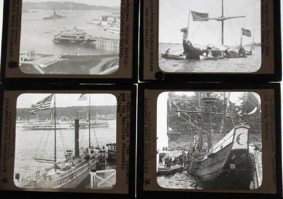 42 Lantern Slides - Ships and Boats