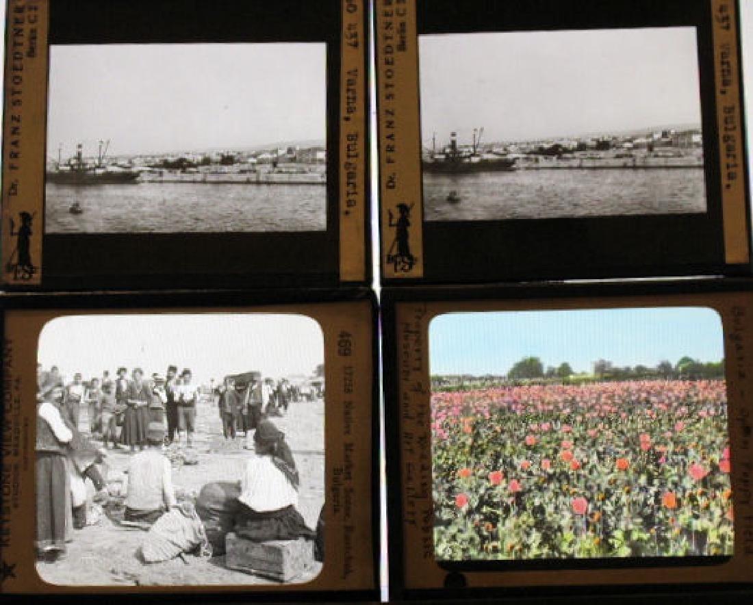 10 Lantern Slides - Bulgaria/plus opium field