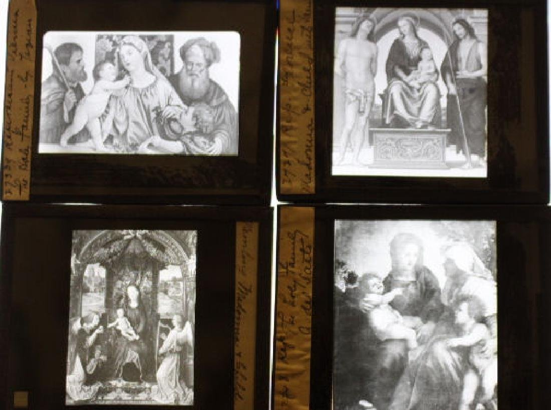 64 Lantern Slides - Italy and France/paintings