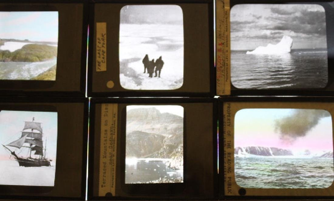 7 Lantern Slides Greenland Peary Mengel Expedition