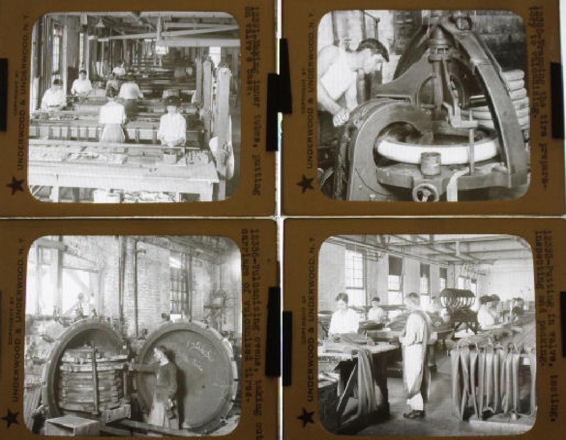 37 Lantern Slides - Rubber Industry