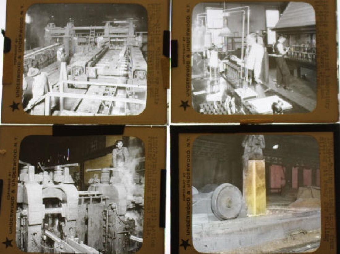 46 Lantern Slides - Steel Industry