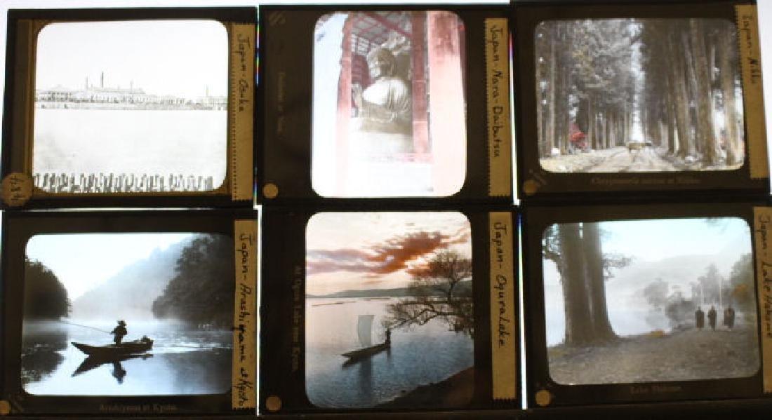 7 Lantern Slides - Cities of Japan by Takagi