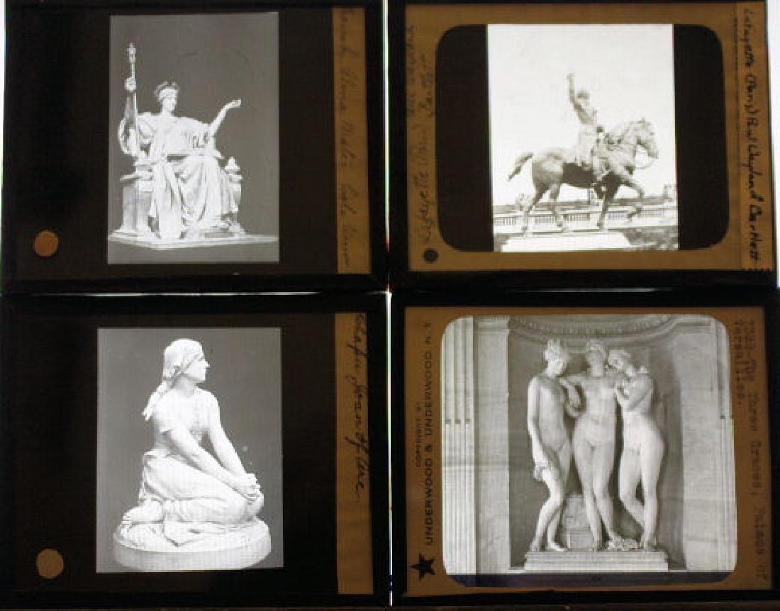 41 Lantern Slides - Famous Sculptures / Artwork