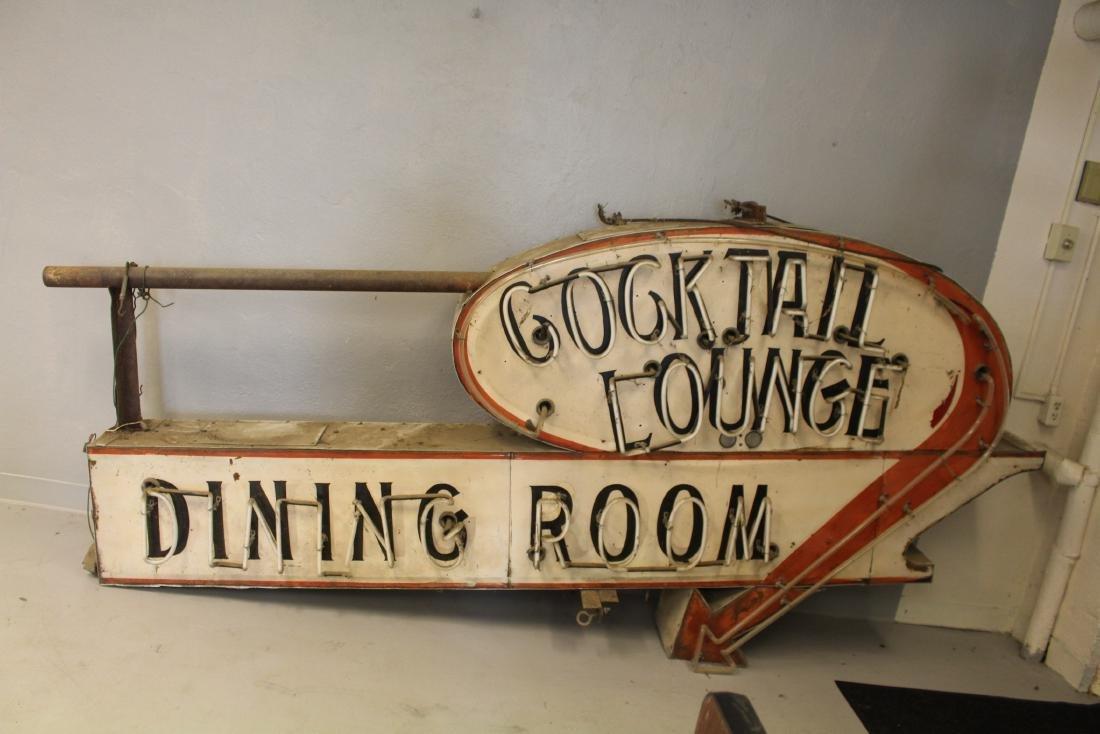 Huge Restaurant Sign w/ Neon Cocktail Lounge