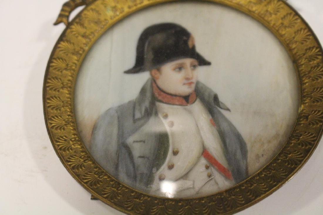 Signed Miniature Painting of Napoleon Wearing Hat - 2