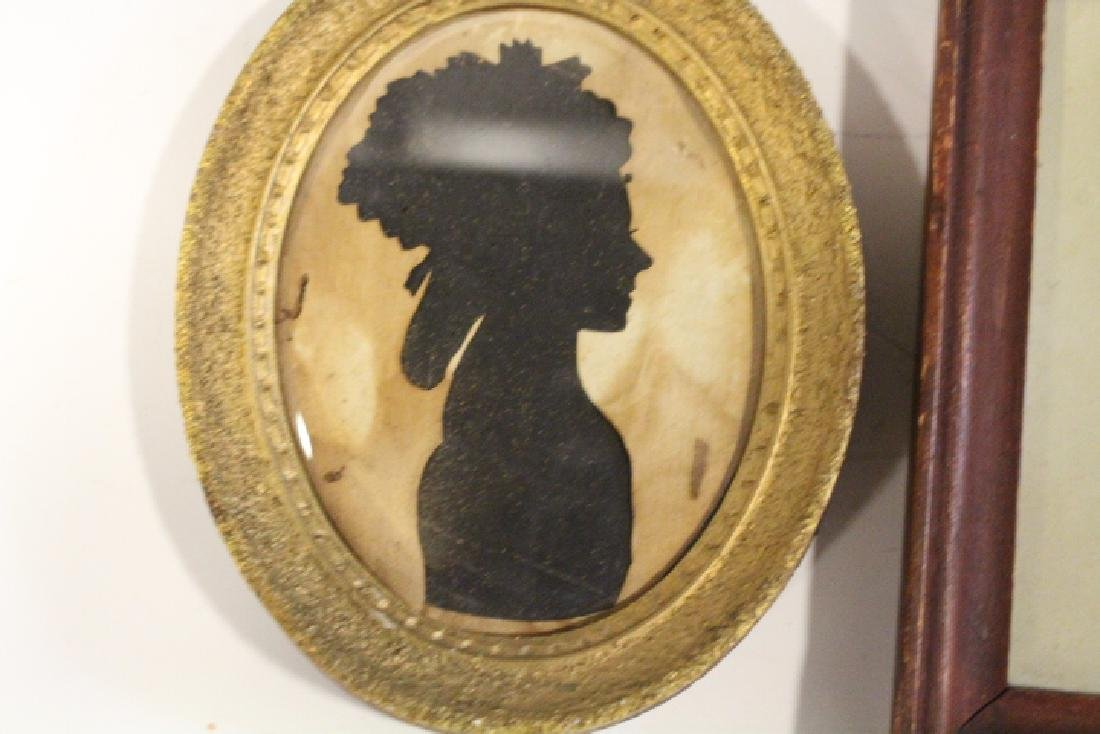 2 Early 1800s Silhouettes -Woman & Gentleman - 2