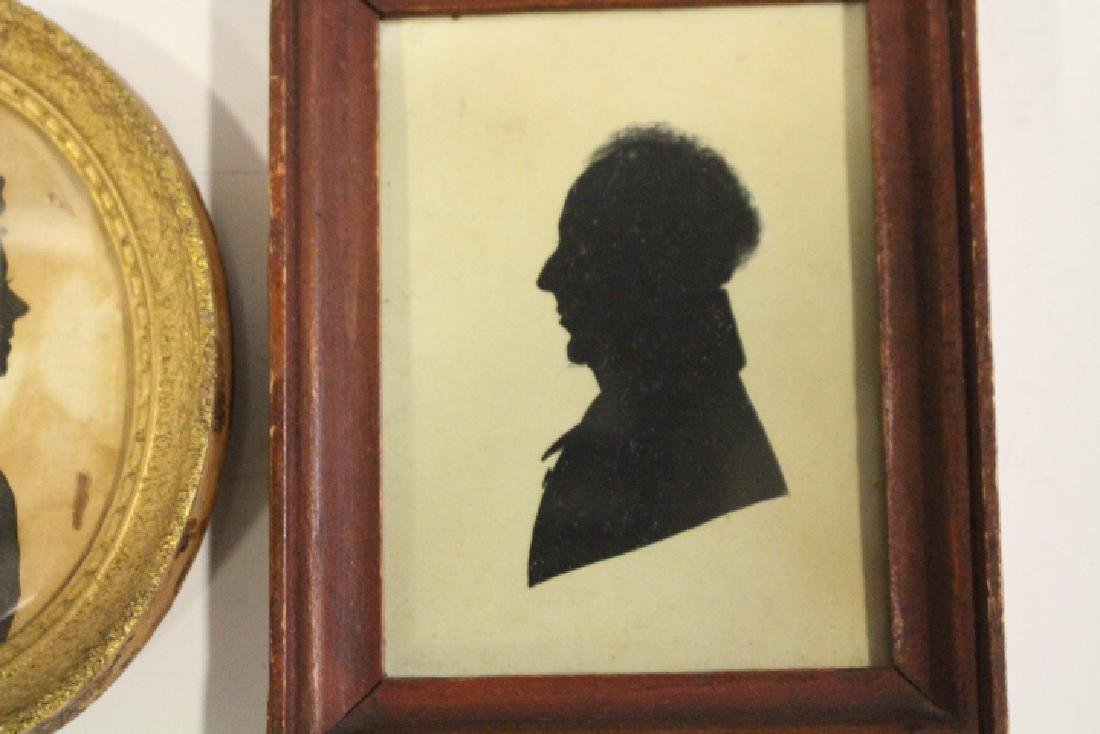 2 Early 1800s Silhouettes -Woman & Gentleman - 3