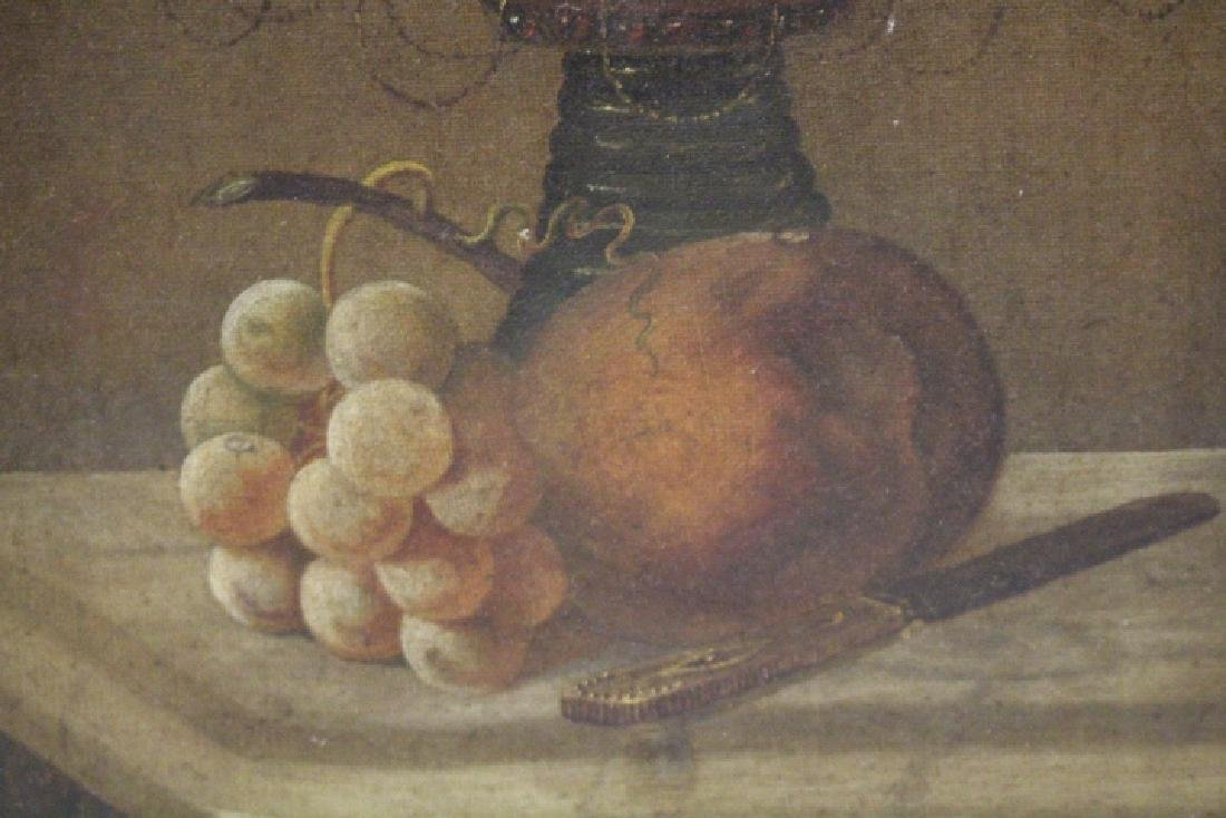 19th C Still Life Painting of Fruit in Compote - 2