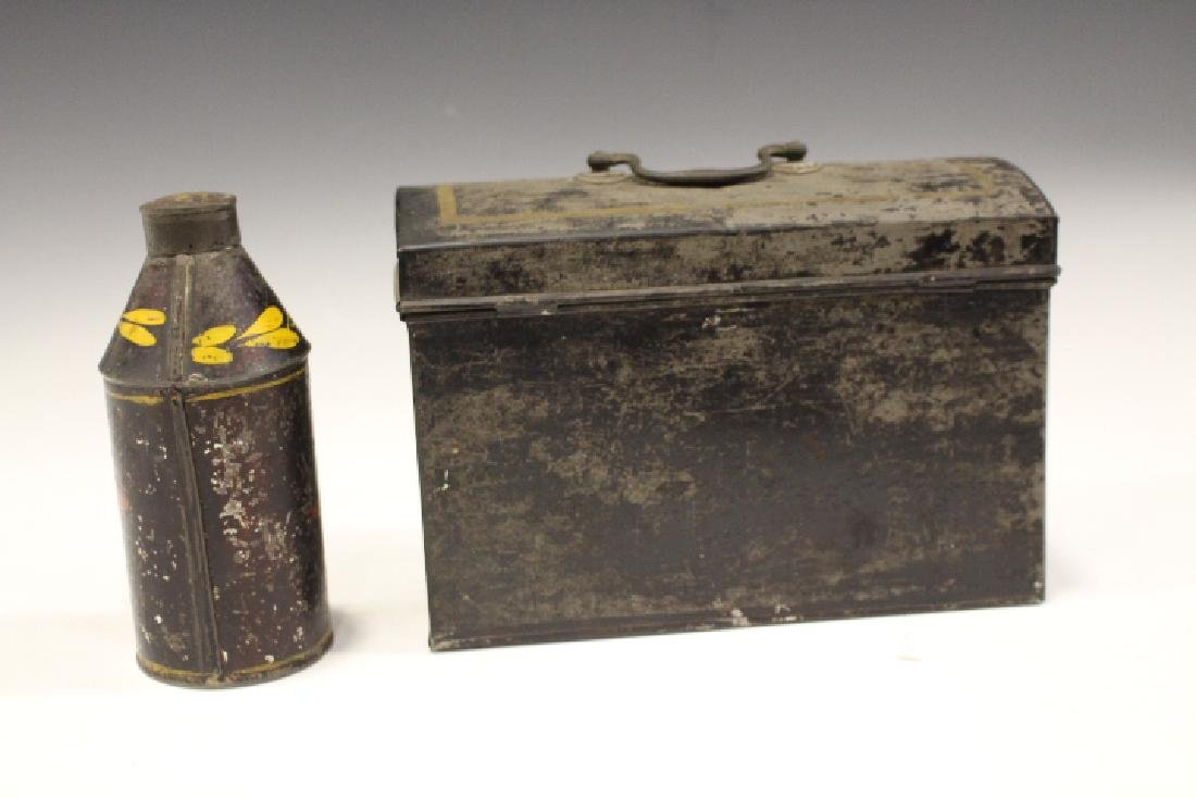 19th C Toleware Document Box & Canister - 2