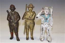 Figural Still Banks Baseball Player, Sailor & Boy Scout