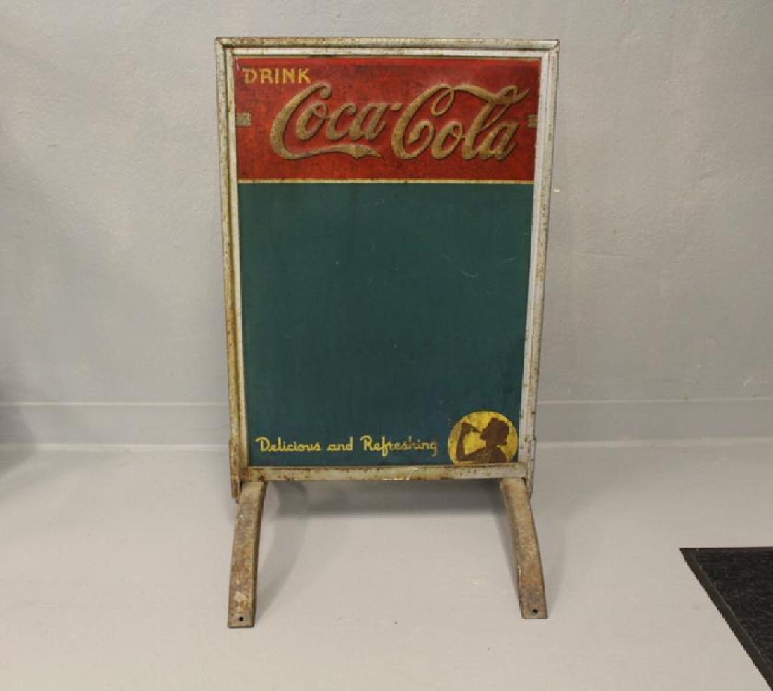 Coca-Cola / Coke Sidewalk Double-Sided Chalkboard Sign