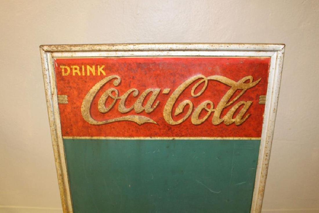Coca-Cola / Coke Sidewalk Double-Sided Chalkboard Sign - 2