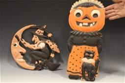 1930s Halloween Diecuts Mrs JackoLantern  Witch