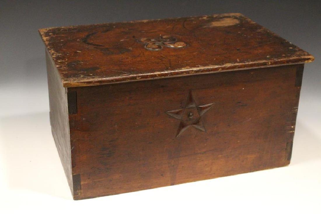"""Ca 1775 Ship's Wooden Log Book Cover """"North Star"""""""