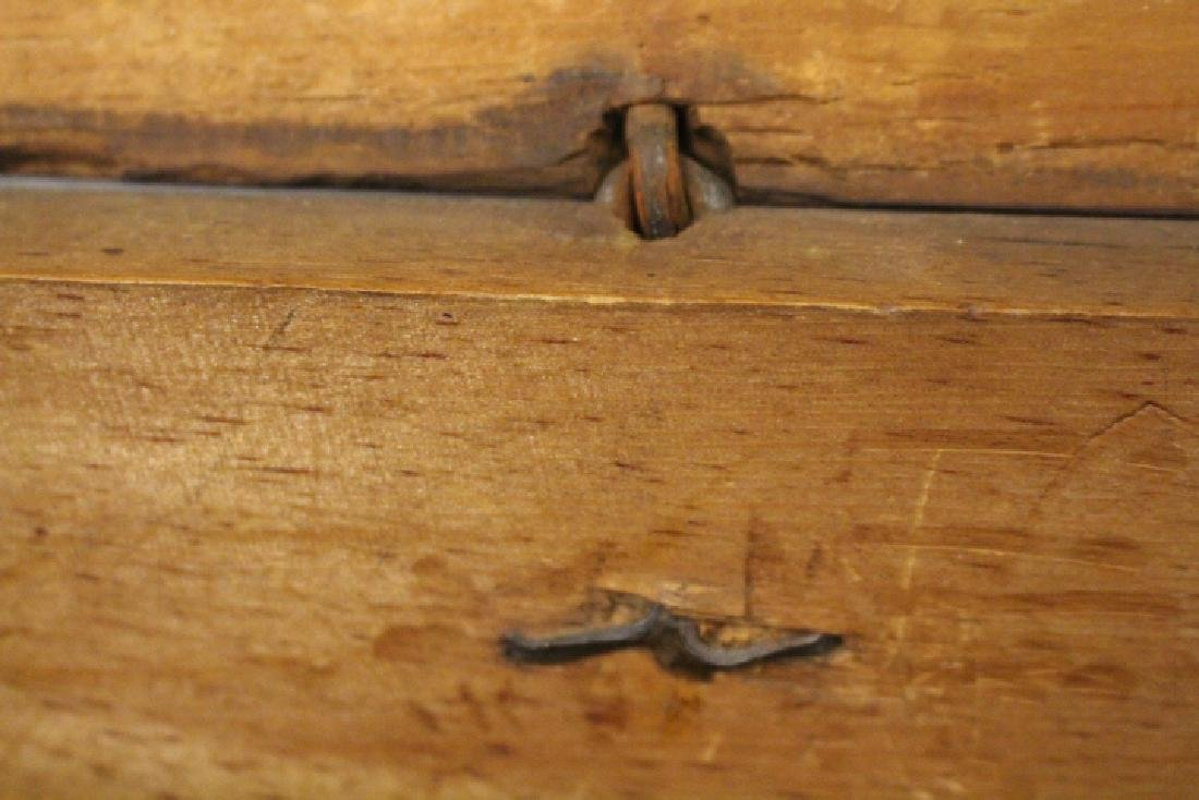 18th C  Blanket Chest / Box - Original Red Stain & - 6
