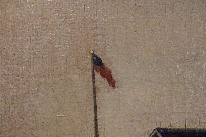 Large Oil / C Painting of Mid-19th C Street Scene - 6