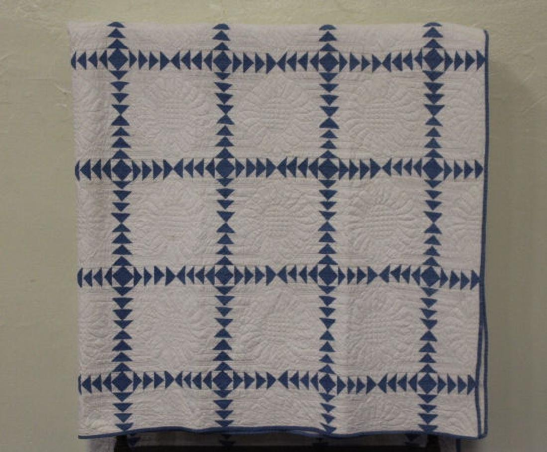 Wild Goose Chase Antique Quilt 1942 Quilter Identified