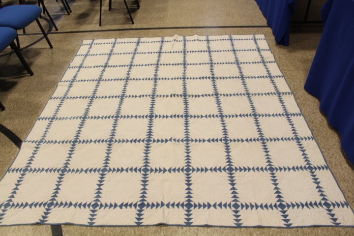 Wild Goose Chase Antique Quilt 1942 Quilter Identified - 5