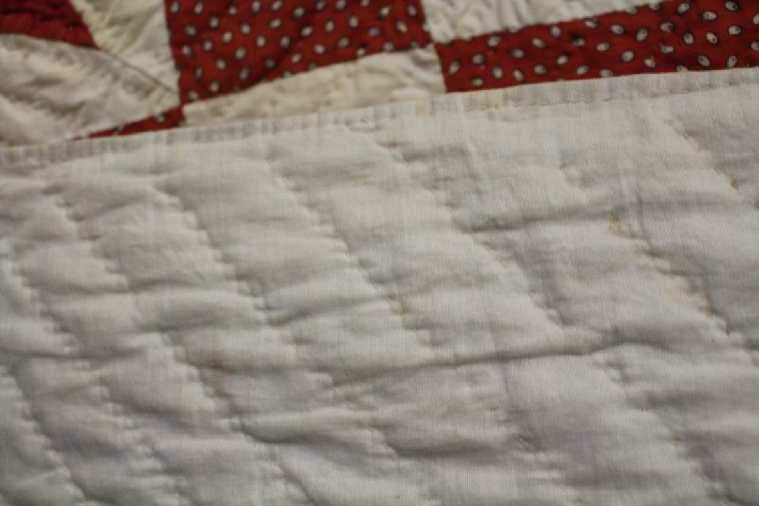 Very Large 99 x 108 Inch Antique Quilt - 3