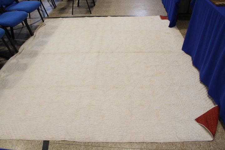 Very Large 99 x 108 Inch Antique Quilt - 6