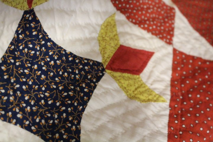 Very Large 99 x 108 Inch Antique Quilt - 9