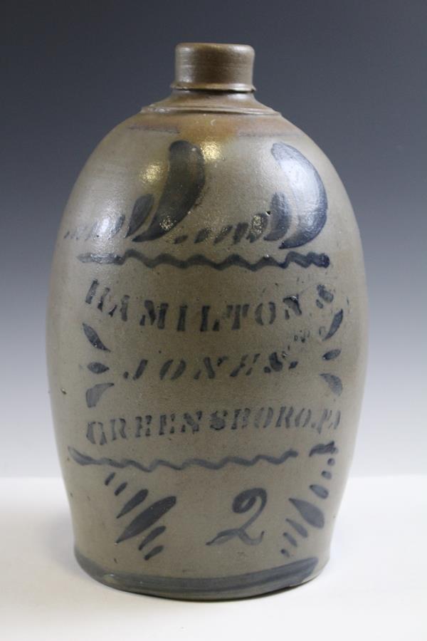 Hamilton Jones Stenciled Stoneware Jug