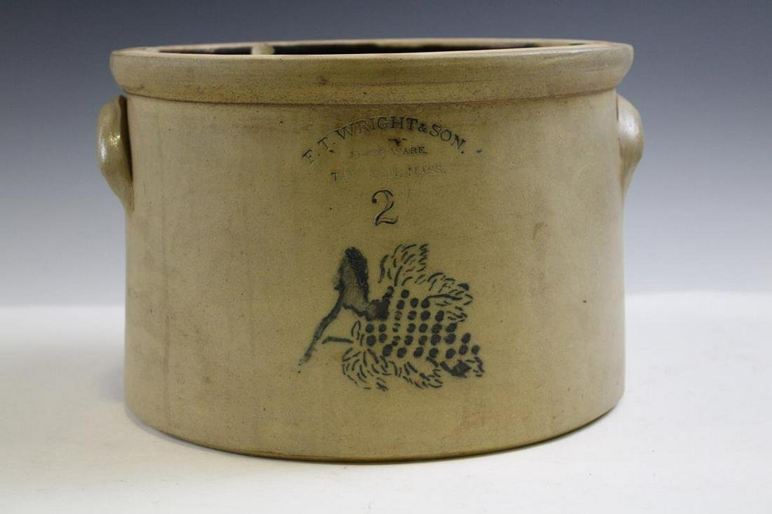 Massachusetts Stoneware Crock