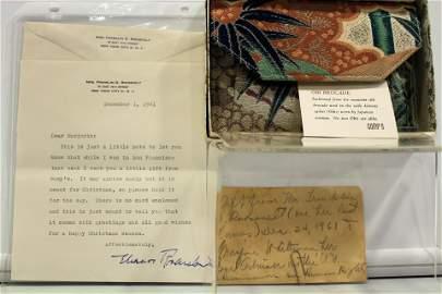 Eleanor Roosevelt Gift w/ Letter Gump Store
