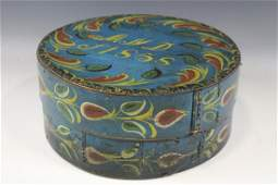 Dated 1858 Painted Round Pantry Box