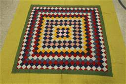 19thEarly 20th C Postage Stamp Quilt