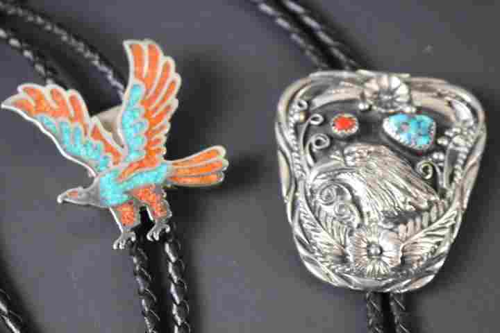 Native American Indian Bolo Ties w/ Eagles