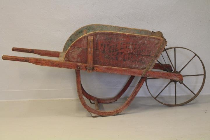 Red Painted & Stenciled Wheelbarrow Toledo OH