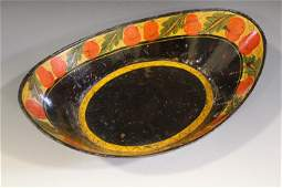 Tin Apple  Bread Tray TolePainted Toleware