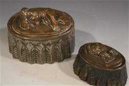 Antique Copper  Tin Food Molds   Baby  Rabbit