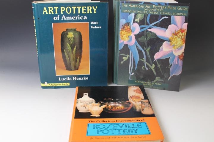 Lot of 3 Hardcover Art Pottery Reference Books