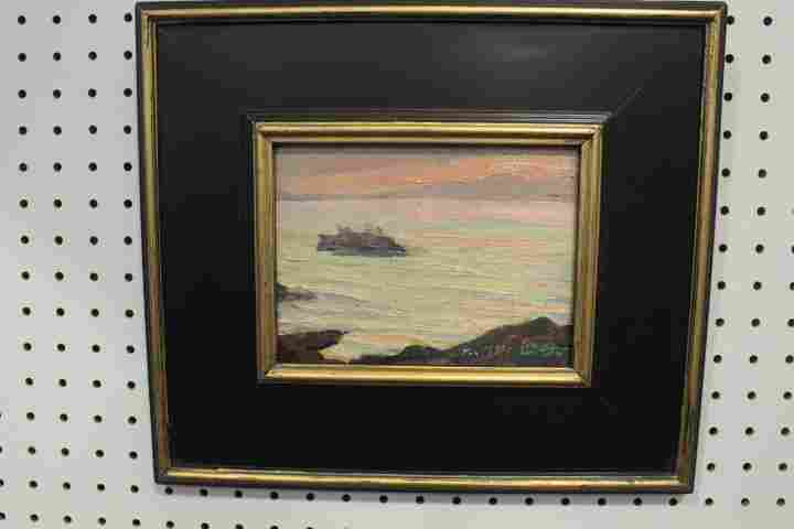 Oil on Board Modernistic Seascape Scene