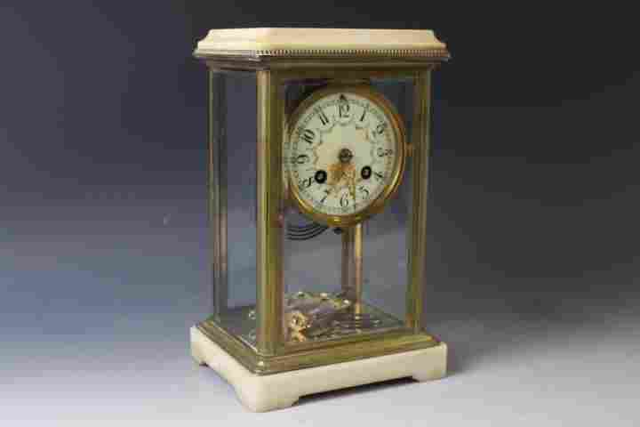 French Brass & Marble Clock