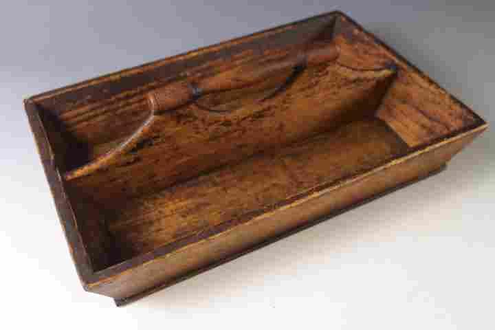 19th C Pine Knife / Utensil Tray
