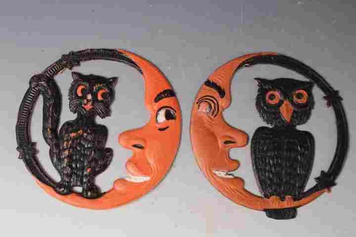 2 Halloween Die Cuts - Cat & Moon, Owl & Moon