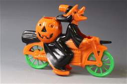 1950s Rosbro Witch on Motorcycle Candy Container