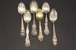 Souvenir Spoons Calif. Alaska Pikes Peak Others